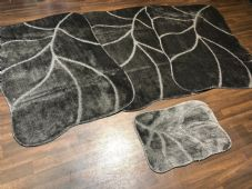 ROMANY GYPSY WASHABLES NEW DESIGNS SET OF 4PCS DARK GREYS MATS XLARGE  100X140CM